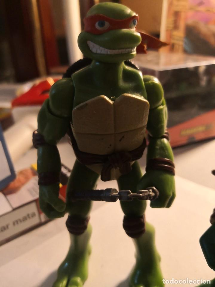 Figuras y Muñecos Tortugas Ninja: 2 figuras coleccionables serie tortugas ninja playmates toys año 2000 - Foto 2 - 245024860