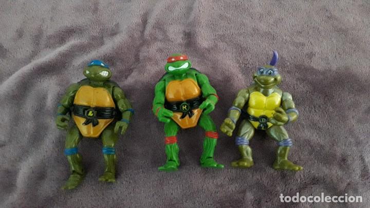 TMNT 3 MUÑECOS TORTUGAS NINJA MIRAGE STUDIOS PLAYMATES TOYS 1992 (Juguetes - Figuras de Acción - Tortugas Ninja)
