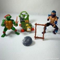 Figuras y Muñecos Tortugas Ninja: LOTE TORTUGAS NINJAS - TURBO SKATE + RAPHAEL + ALCANTARILLA ESCUDO + SHREDDER. Lote 245251875