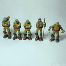 Figuras y Muñecos Tortugas Ninja: LOTE 5 FIGURAS TORTUGAS NINJA - VIACOM - AÑO 2013 - 7 CM - MUTANTES ADOLESCENTES. Lote 245272890