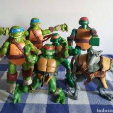 Figuras y Muñecos Tortugas Ninja: LOTE DE CINCO TORTUGAS NINJA Y SPLINTER DEL PLAYMATERS DEL 2000. Lote 247124990