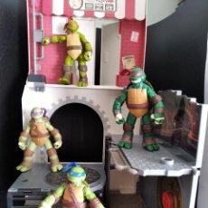 Figuras y Muñecos Tortugas Ninja: COLECCION LAS TORTUGAS NINJA + SET DE JUEGO ALCANTARILLAS - 2012 NICKELODEON- TMNT.. Lote 247924500
