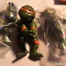 Figuras y Muñecos Tortugas Ninja: LOTE 3 MUÑECOS 9CTMOS PLÁSTICO MANOS PINZA TORTUGAS NINJA BOOTLEG AÑOS 80 90.. Lote 250270035