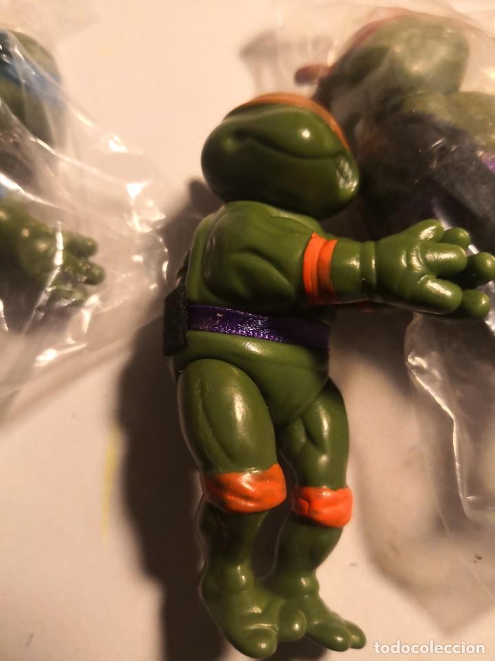 Figuras y Muñecos Tortugas Ninja: lote 3 muñecos 9ctmos plástico manos pinza tortugas ninja bootleg años 80 90. - Foto 3 - 250270035