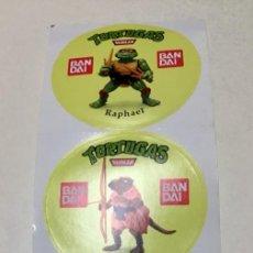 Figuras y Muñecos Tortugas Ninja: TORTUGAS NINJA: JUEGO DE 3 PEGATINAS PERSONAJES NUEVAS. BANDAI.AÑOS 80.. Lote 252723475