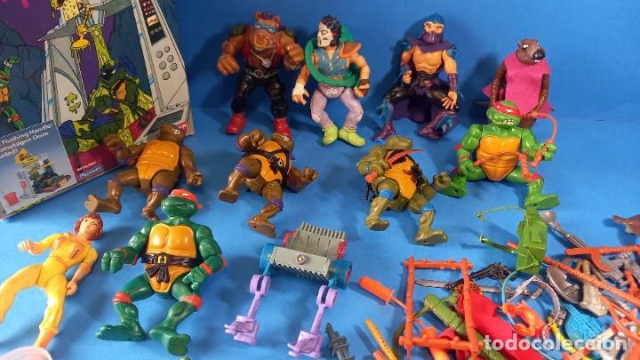 BRUTAL FIGURAS TORTUGAS NINJA +ARMAS Y ACCESORIOS MIRAGE STUDIOS 1988 PLAYMATES TOYS (Juguetes - Figuras de Acción - Tortugas Ninja)