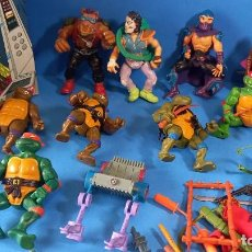 Figuras y Muñecos Tortugas Ninja: BRUTAL FIGURAS TORTUGAS NINJA +ARMAS Y ACCESORIOS MIRAGE STUDIOS 1988 PLAYMATES TOYS. Lote 254538035