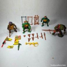 Figuras y Muñecos Tortugas Ninja: LOTE TORTUGAS NINJA 1988 + MUCKMAN 1990 + ARMAS Y ACCESORIOS - MIRAGE STUDIOS. Lote 254768345