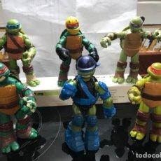 Figuras y Muñecos Tortugas Ninja: 6 TORTUGAS NINJAS 12 CENTIMETROS ARTICULADAS. Lote 262389265