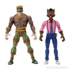 Figuras y Muñecos Tortugas Ninja: PACK FIGURAS RAT KING & VERNON 18 CM - TEENAGE MUTANT NINJA TURTLES - NECA. Lote 264338968