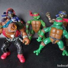 Figuras y Muñecos Tortugas Ninja: TORTUGAS NINJA Y VILLANO BEBOP. Lote 171758143