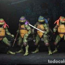 Figuras y Muñecos Tortugas Ninja: LAS TORTUGA NINJA PACK 4 FIGURAS 18 CM SCALE ACTION FIGURE TMNT MOVIE 1990. Lote 266906964