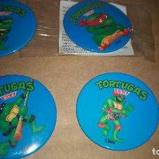 Figuras y Muñecos Tortugas Ninja: LOTE DE 4 CHAPAS PROMOCIONALES DE CEREALES CHEX DE LAS TORTUGAS NINJA. Lote 269127583