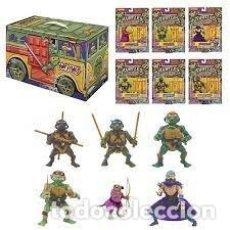Figuras y Muñecos Tortugas Ninja: LOTE 6 FIGURAS RETRO COLLECTION PARTY WAGON BOX 2020 PLAYMATES REEDICION 88. Lote 269177828