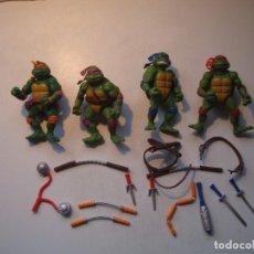 Figuras y Muñecos Tortugas Ninja: LOTE TORTUGAS NINJA Y COMPLEMENTOS SIN IDENTIFICAR (VER FOTOGRAFIAS). Lote 270167053