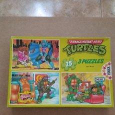 Figuras y Muñecos Tortugas Ninja: PUZZLES DE LAS TORTUGAS NINJA.. Lote 270343813