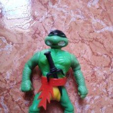 Figurines et Jouets Tortues Ninja: BONITA FIGURA ARTICULADA BOOTLEG TORTUGA NINJA CON SU ARMA ORIGINAL.. Lote 274405493