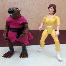 Figuras e Bonecos Tartarugas Ninja: DOS ANTIGUAS FIGURAS TORTUGAS NINJA 1988, MAESTRO SPLINTER Y APRIL O'NEIL EN BUEN ESTADO.. Lote 277571898