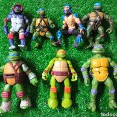 Figuras y Muñecos Tortugas Ninja: LOTE 7 MUÑECOS PLÁSTICO TORTUGAS NINJA DIFERENTES MARCAS. Lote 278355253