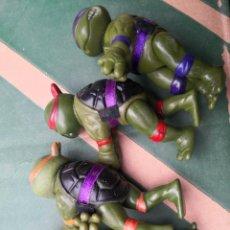 Figuras y Muñecos Tortugas Ninja: LOTE 4 MUÑECOS 9 CTMOS PLÁSTICO MANOS PINZA TORTUGAS NINJA BOOTLEG AÑOS 80 90.. Lote 285118598