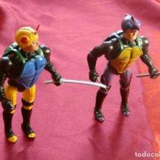 Figuras y Muñecos Tortugas Ninja: 4/ 2 FIGURAS ARTICULADAS A IDENTIFICAR-AÑOS 80-SE HA SALIDO PIERNA-ARTICULACION PARECE ESTAR BIEN. Lote 286541908