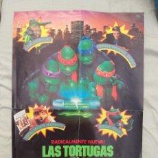 Figuras y Muñecos Tortugas Ninja: POSTER LAS TORTUGAS NINJA II EL SECRETO DE LOS MOCOS VERDES. Lote 289202398