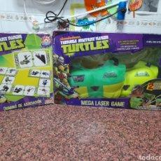 Figuras y Muñecos Tortugas Ninja: TORTUGA NINJA MEGA LÁSER GAME Y DOMINÓ. Lote 289730363