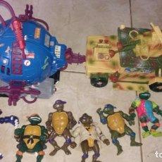 Figuras y Muñecos Tortugas Ninja: LOTE TORTUGAS NINJA Y VEHICULOS TECNODROMO MIRAGE BANDAI... Lote 290064063
