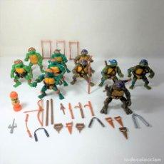 Figuras y Muñecos Tortugas Ninja: LOTE TORTUGAS NINJAS - 10 FIGURAS + DE 20 ARMAS - AÑO 1988 - 11 CM. Lote 293577158