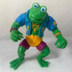 Figuras y Muñecos Tortugas Ninja: FIGURA TORTUGAS NINJA - RANAS PUNK - GENCHIS FROG - AÑO 1989 - PLAYMATES - MIRAGE STUDIOS - 11 CM. Lote 293639023