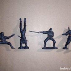 Figuras y Muñecos Tortugas Ninja: RARO RUSIA SOVIÉTICA SOLDADOS DE JUGUETE FIGURITAS NINJA DE LOS AÑOS 80 DE PLÁSTICO. Lote 294979228