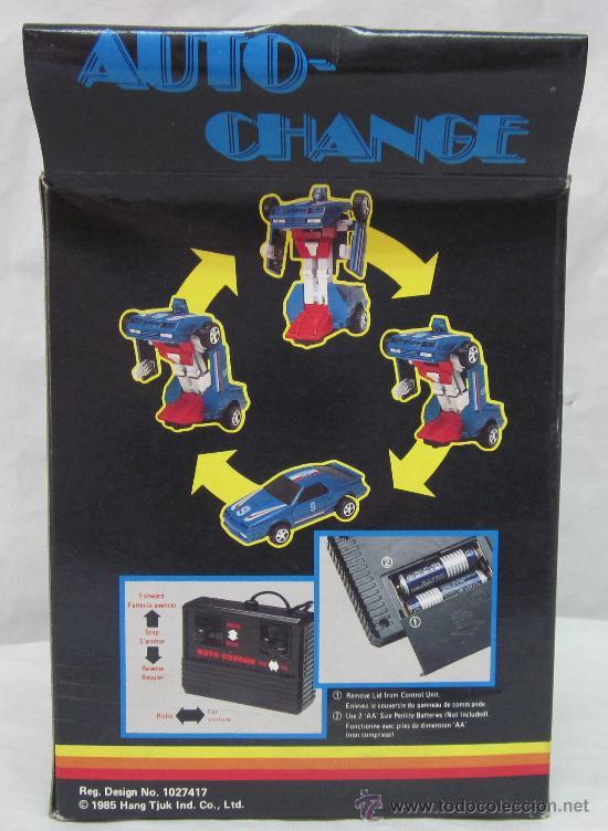 ROBOT AUTO-CHANGE,TRANSFORMERS,A PILAS,CAJA ORIGINAL,AÑO 1985,A ESTRENAR (Juguetes - Figuras de Acción - Transformers)