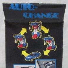 Figuras y Muñecos Transformers: ROBOT AUTO-CHANGE,TRANSFORMERS,A PILAS,CAJA ORIGINAL,AÑO 1985,A ESTRENAR. Lote 225831133