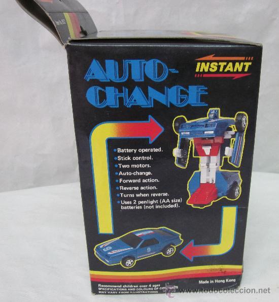 Figuras y Muñecos Transformers: ROBOT AUTO-CHANGE,TRANSFORMERS,A PILAS,CAJA ORIGINAL,AÑO 1985,A ESTRENAR - Foto 4 - 225831133