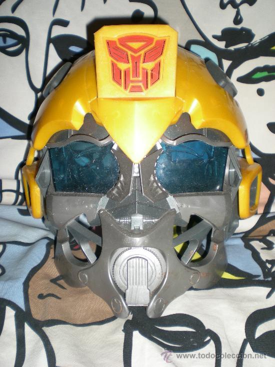 MÁSCARA BUMBLEBEE CON VOZ SEGUNDA ENTREGA EN CINES DE TRANSFORMERS FUNCIONANDO (Juguetes - Figuras de Acción - Transformers)
