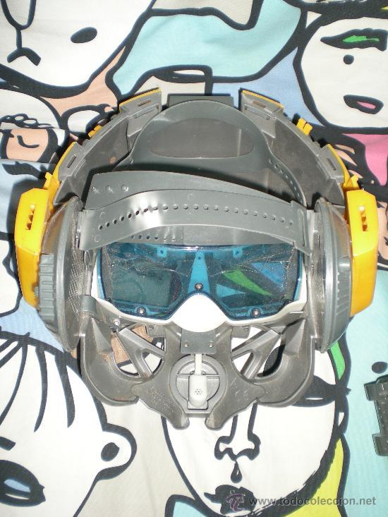 Figuras y Muñecos Transformers: Máscara Bumblebee con voz segunda entrega en cines de Transformers funcionando - Foto 2 - 35464646