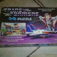Figuras y Muñecos Transformers: ANTIGUO PUZZLE 3D TRANSFORMERS MB STARSCREAM DECEPTICON MUY RARO AÑO 1985. Lote 40851325
