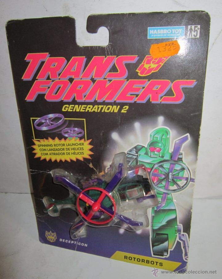TRANSFORMERS GENERATION 2 ROTORBOTS BLADE, DE HASBRO, EN BLISTER. CC (Juguetes - Figuras de Acción - Transformers)