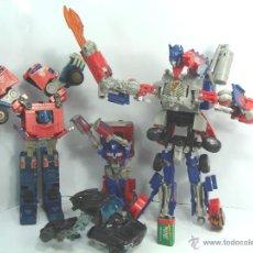 Figuras y Muñecos Transformers: LOTE 3X TRANSFORMER- TAKARA OPTIMUS PRIME - HASBRO - FIGURAS ARTICULADAS TRANSFORMERS. Lote 49390068
