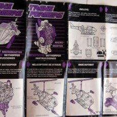 Figuras y Muñecos Transformers: INSTRUCCIONES TRANSFORMERS DECEPTICON SKYHOPPER MICRO MASTER. Lote 50837092