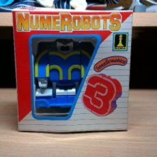 Figuras y Muñecos Transformers: NUMEROBOTS DE RIMA FIGURA TRANSFORMER ROBOT NUMERO 3. Lote 54461992