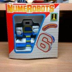 Figuras y Muñecos Transformers: NUMEROBOTS DE RIMA FIGURA TRANSFORMER ROBOT NUMERO 6. Lote 54462014