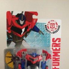 Figuras y Muñecos Transformers: TRANSFORMERS OPTIMUS PRIME - HASBRO AUTHENTIC TRANSFORMERS. BLISTER ABIERTO PEGADO CON FISO. . Lote 57315156