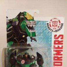 Figuras y Muñecos Transformers: TRANSFORMERS GRIMLOCK - HASBRO AUTHENTIC TRANSFORMERS. BLISTER ABIERTO PEGADO CON FISO. . Lote 57315173