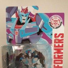 Figuras y Muñecos Transformers: TRANSFORMERS SIDESWIPE - HASBRO AUTHENTIC TRANSFORMERS. BLISTER ABIERTO PEGADO CON FISO.. Lote 57315189