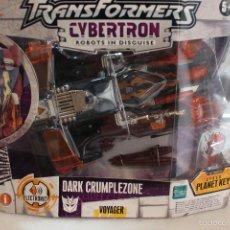 Figuras y Muñecos Transformers: TRANSFORMERS CYBERTRON DARK CRUMPLEZONE.HASBRO 2005.EN SU CAJA A ESTRENAR. Lote 58339048