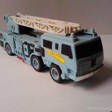 Figuras y Muñecos Transformers: FIGURA DE COLECCION TRANSFORMER CAMION DE BOMBEROS -HOS SPOT-G1 1986-HASBRO -COMPLETO-ROBOT AZUL. Lote 58363878
