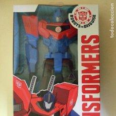 Figuras y Muñecos Transformers: FIGURA OPTIMUS PRIME - HASBRO TRANSFORMERS ROBOTS IN DISGUISE - SERIE 30 CMS. - ROBOT. Lote 72288127