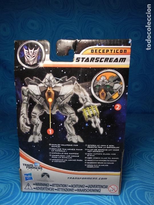 Figuras y Muñecos Transformers: ROBO FIGHTERS STARSCREAM DECEPTION, HASBRO 2011 A ESTRENAR !! - Foto 3 - 74101107