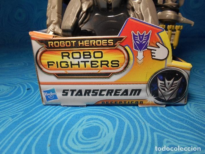 Figuras y Muñecos Transformers: ROBO FIGHTERS STARSCREAM DECEPTION, HASBRO 2011 A ESTRENAR !! - Foto 5 - 74101107